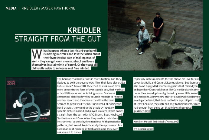 Kreidler - Mosaik 2014